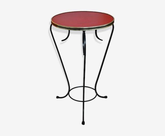 gu ridon tripode vintage des ann es 50 fer rouge vintage f6bukmp. Black Bedroom Furniture Sets. Home Design Ideas