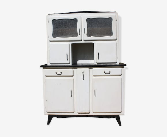buffet vaisselier mado des ann es 50 bois mat riau blanc vintage eoig1sk. Black Bedroom Furniture Sets. Home Design Ideas