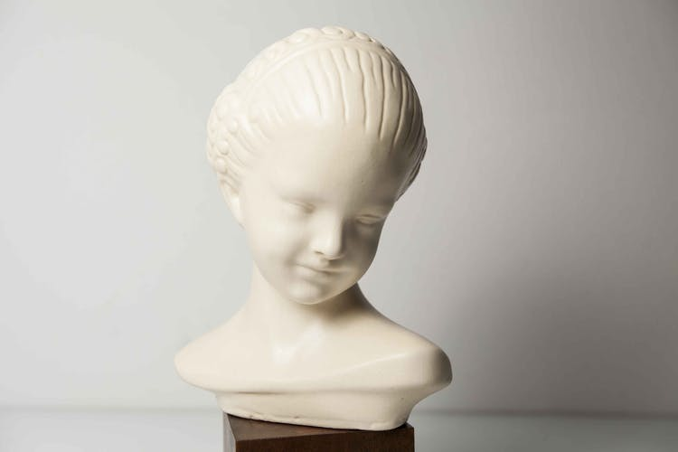 Tête de fille Céramique A.W. Isoppi 1930
