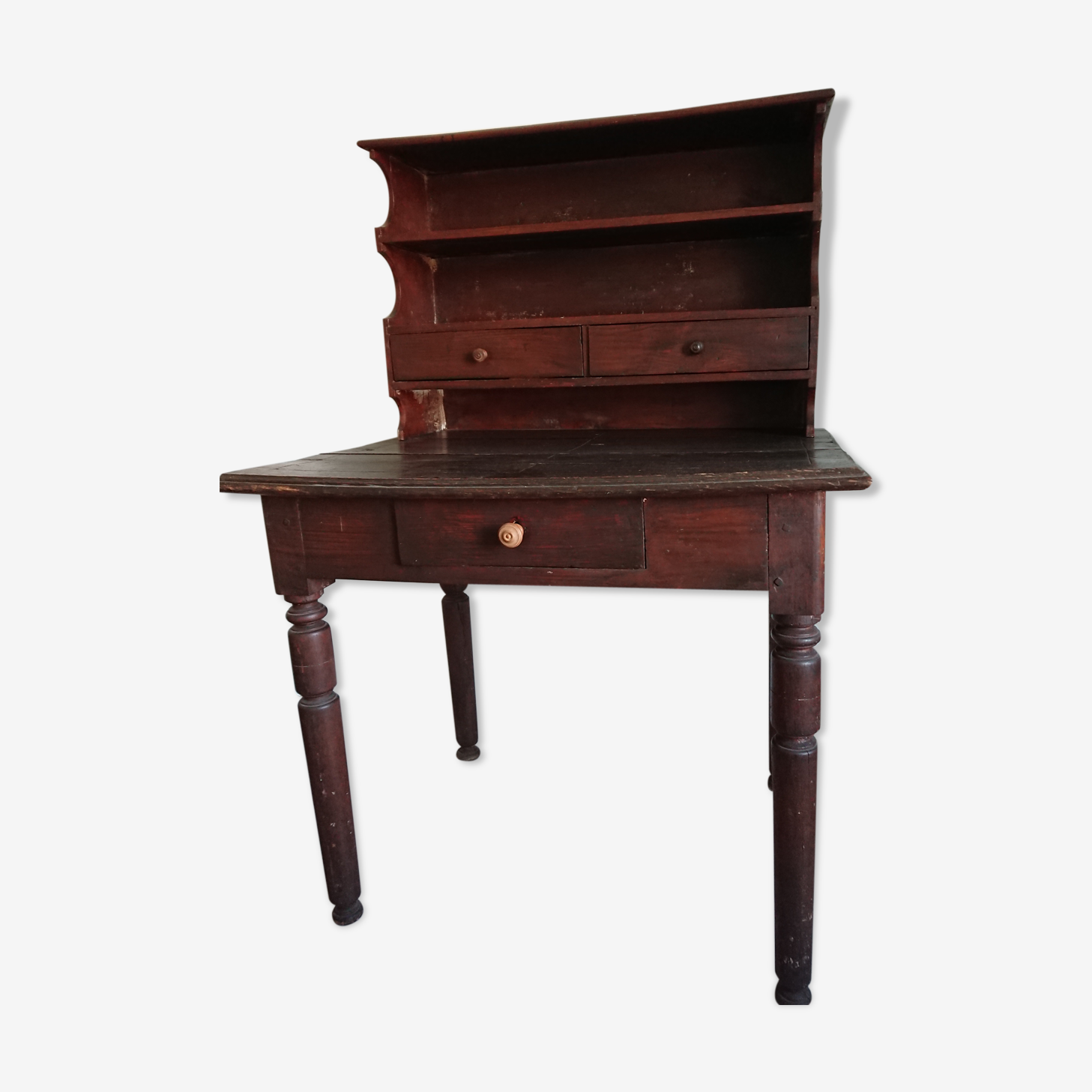 Old oak writing desk