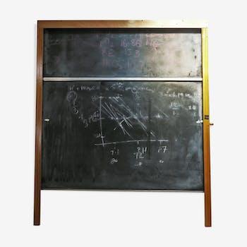 tableau noir d cole enfant sur pieds vintage jeujura m tal orange vintage 132595. Black Bedroom Furniture Sets. Home Design Ideas