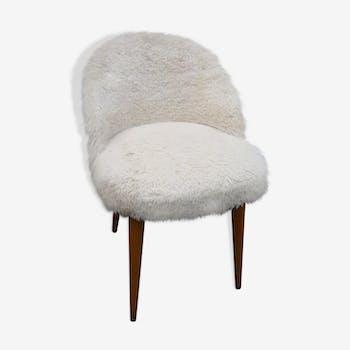 Faux fur beige of 1960 Office Chair