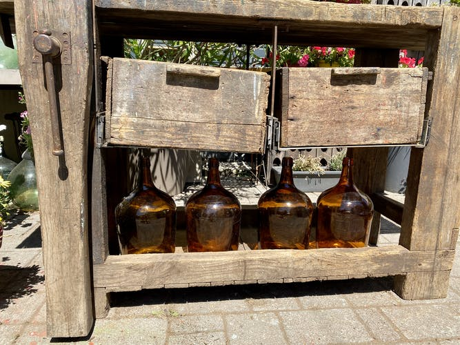 Établi bois vintage