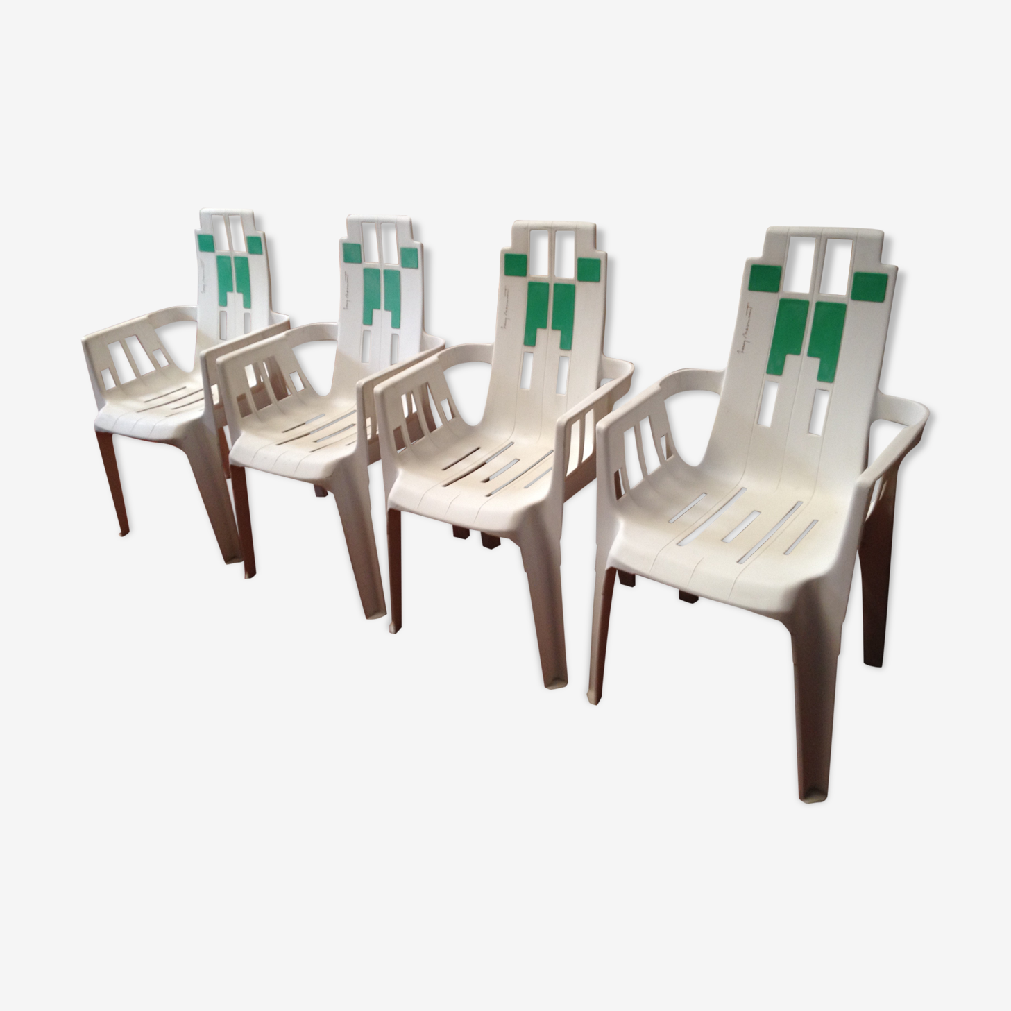 Lot 4 design armchairs Pierre Paulin for Henri Massonnet