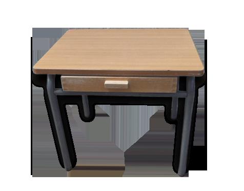 Bureau design bois cool rangements asymtriques pour bureau