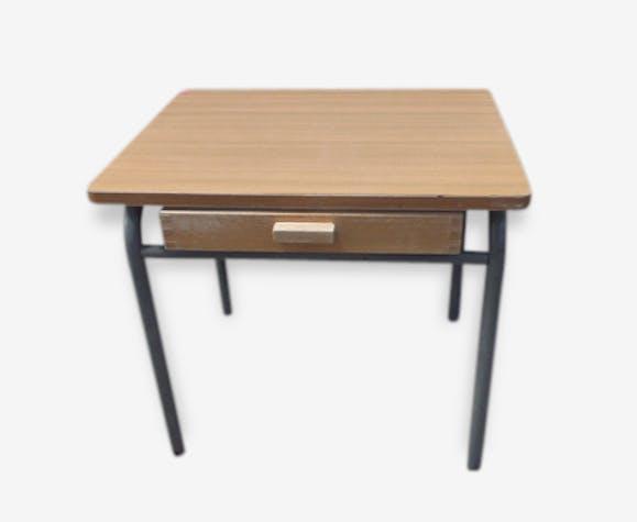 Table bureau pour enfant vintage 1970 formica bois et métal