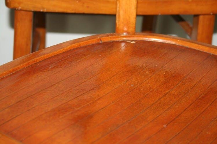 Série de 6 chaises de bistrot des années 50 vintage