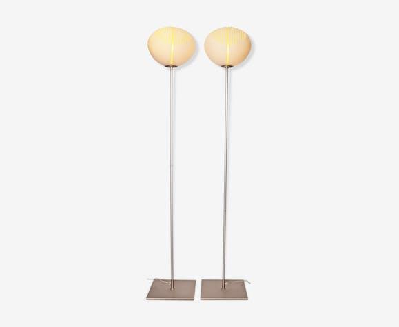 Paire de lampadaires en verre de Murano