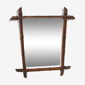 Bamboo mirror 54x64cm