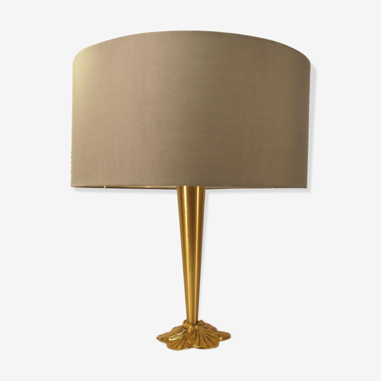Lampe Lucien Gau en laiton Art Nouveau