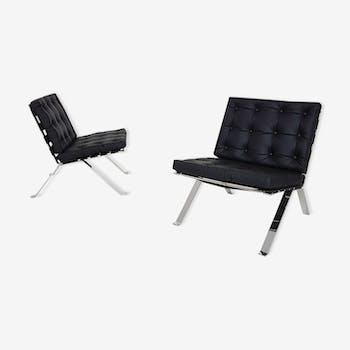 Paire de fauteuils modèle Euro 1600 par Hans Eichenberger pour Girsberger