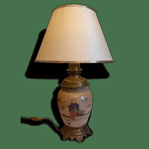 lampe asiatique c ramique porcelaine fa ence multicolore classique 45087. Black Bedroom Furniture Sets. Home Design Ideas
