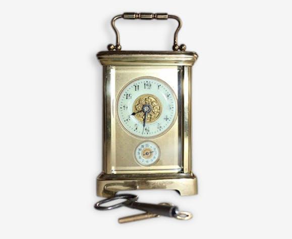 793849a271a Pendulette d'officier - bronze - doré - classique - 37746