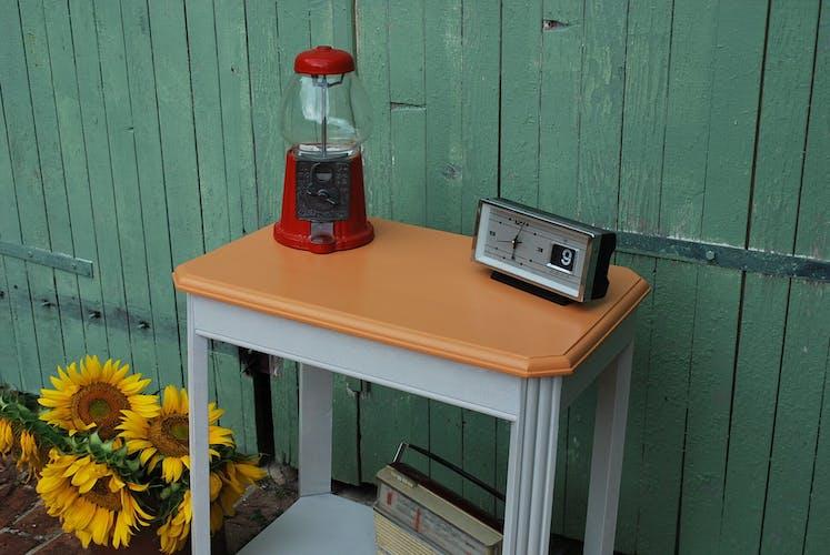 Table d'appoint vintage patinée