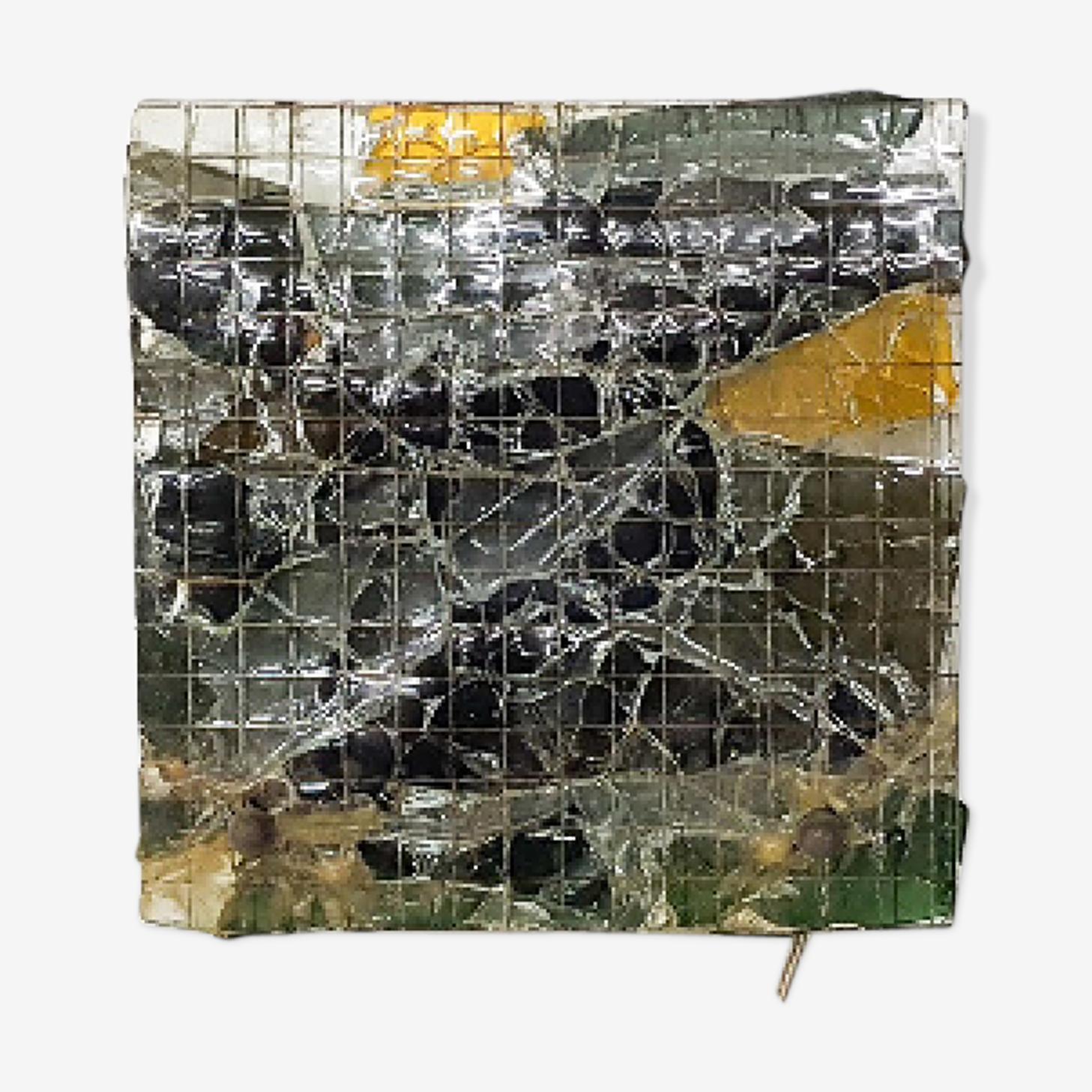 Applique en verre brutaliste les Pays-bas des années 1970