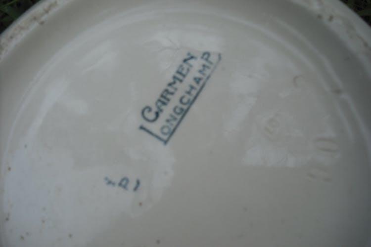 "Two earthenware water brocs ""Carmen"" Longchamps"