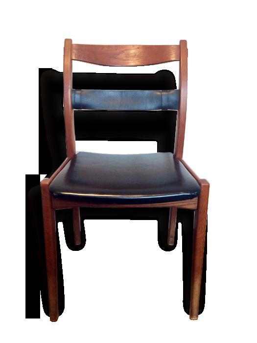 Chaise bureau scandinave dux u bois matériau marron