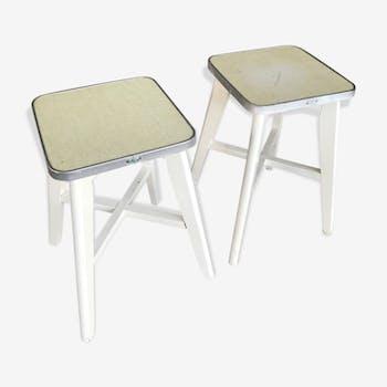 Set of 2 vintage stools