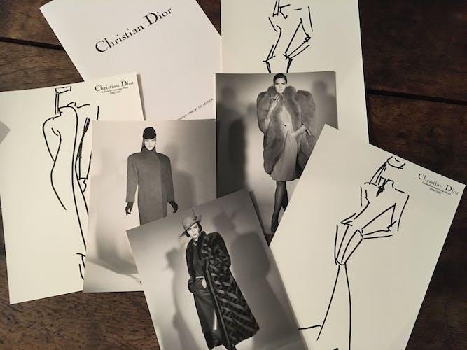 Christian Dior, illustration de mode de presse collection 1986/1987