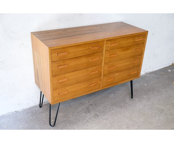 Danish teak chest of drawers by poul hundevad