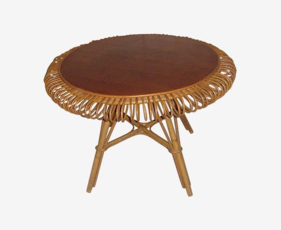 1960 rattan table
