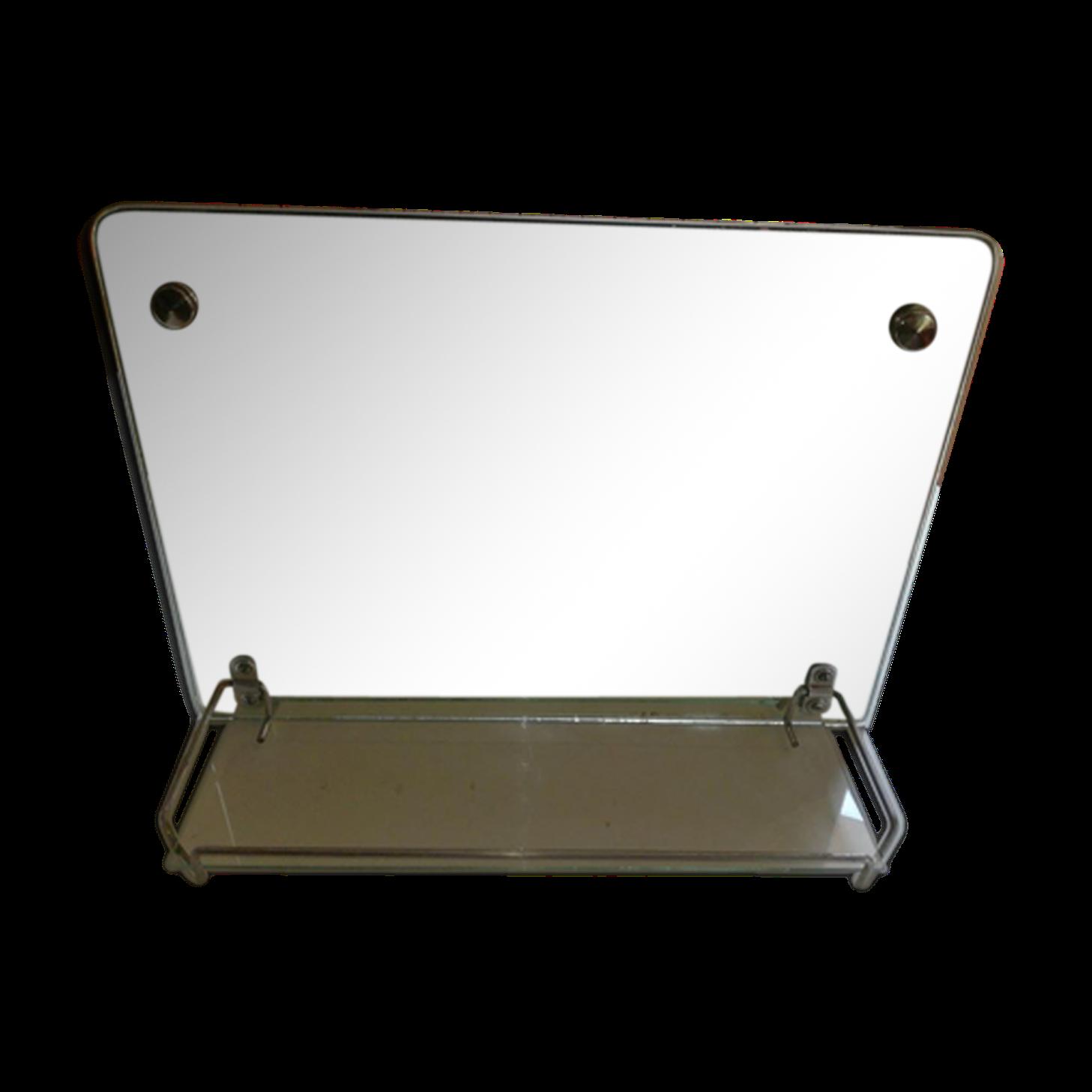 Elegant Miroir Rétro De Salle De Bain Avec Tablette 45x32cm