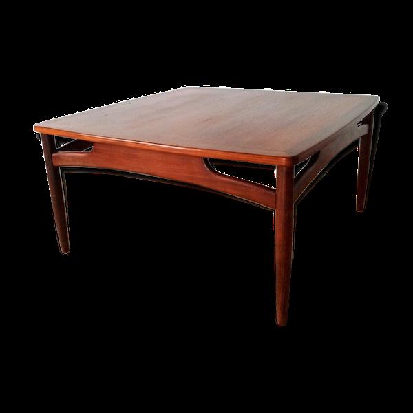 Table basse scandinave carré en teck