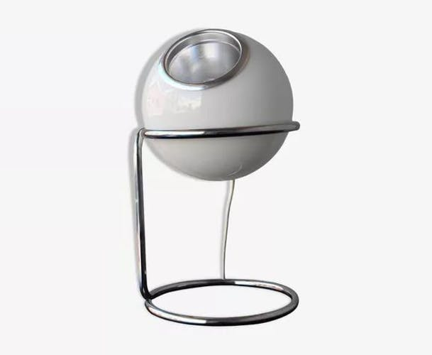 Lampe vintage eye ball opaline italie 1970s