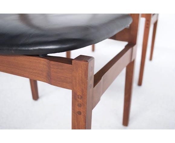 Suite de 6 chaises modèle 104 Gianfranco Frattini années 60' cassina