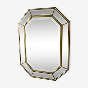 Miroir en bois doré 58x78cm