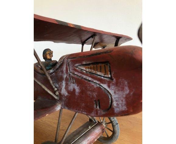Avion biplan en bois 1950