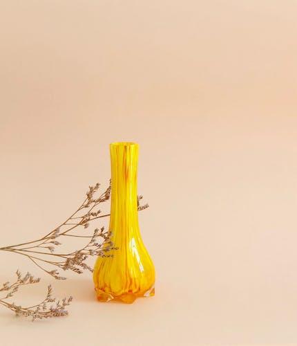Soliflore en verre marbré