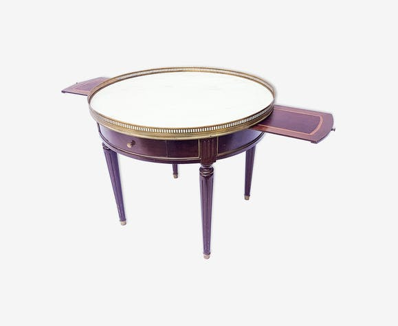 Table bouillotte guéridon de style Louis XVI marbre - wood - brown ...