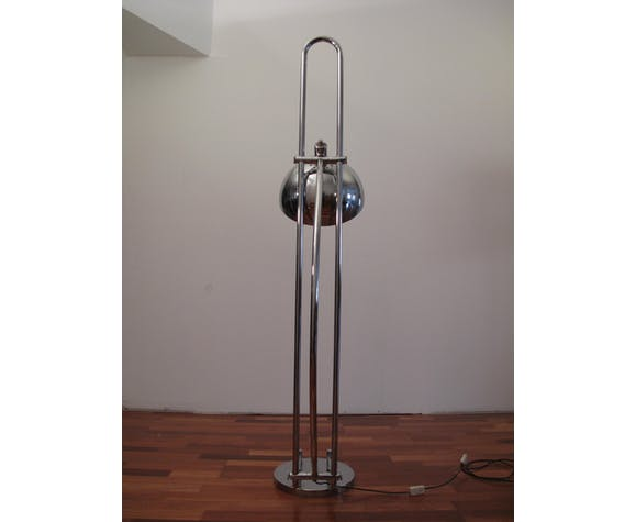 Lampadaire arc ajustable chrome 1970's