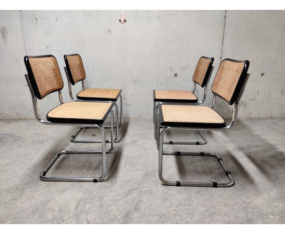 Set of 4 cesca side chairs, 1970