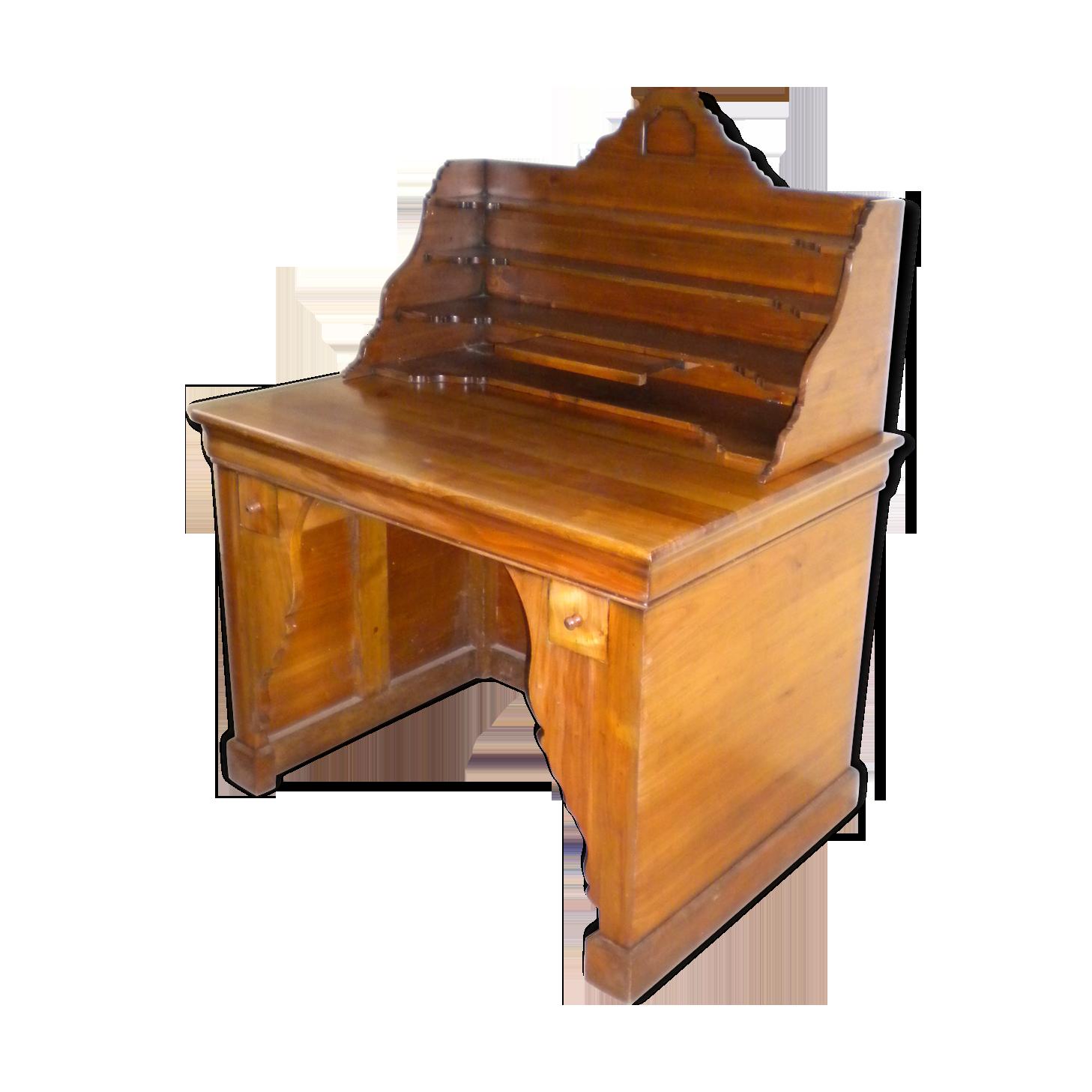 Très joli bureau george sand bois matériau bois couleur