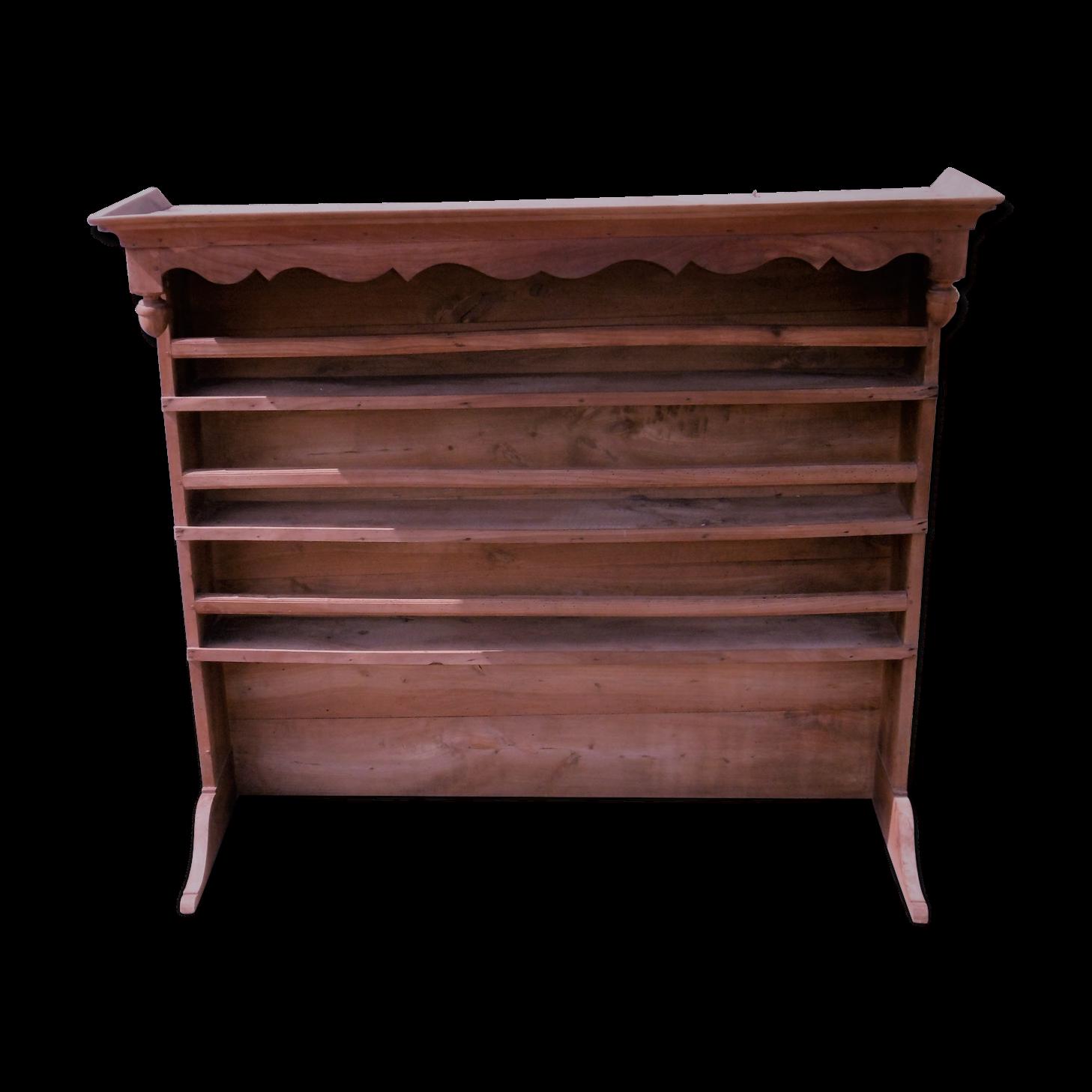 vaisselier en bois massif Haut de vaisselier en bois massif en merisier - bois (Matériau) - bois  (Couleur) - vintage - 7V66diN