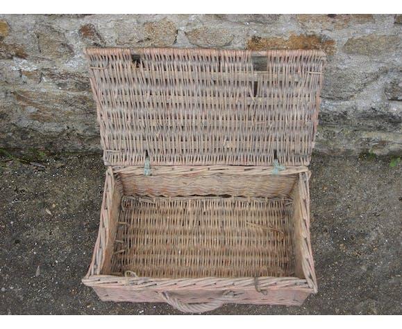 basket vintage 1960 rattan/wicker fisherman