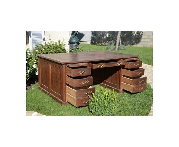 Bureau à caissons de milieu en acajou Maple & co