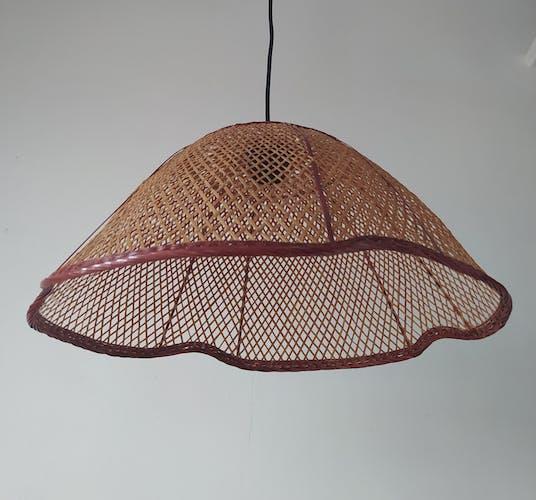 Lampe osier vintage
