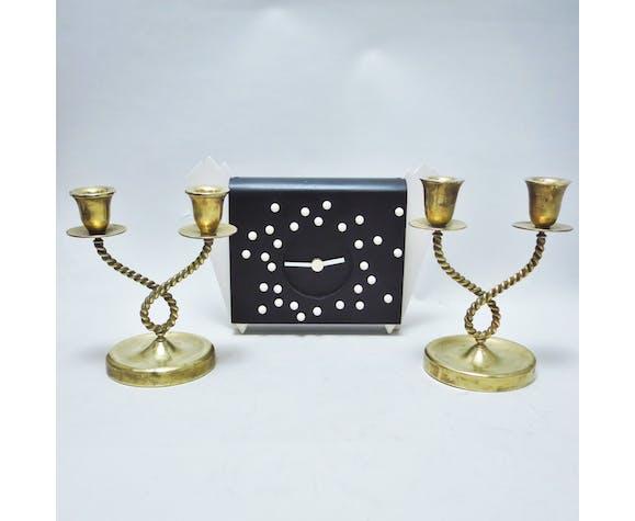 Paire de chandelier en laiton années 40