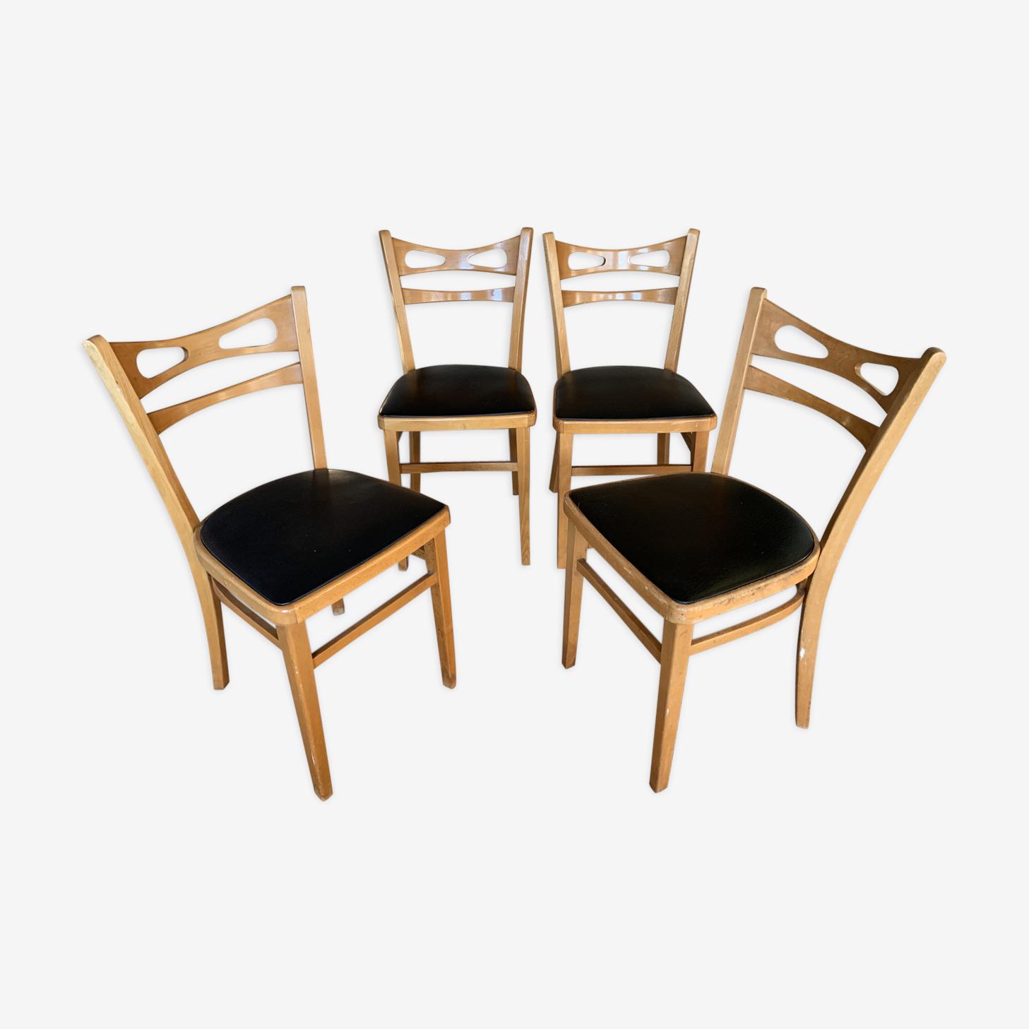 Lot de 4 chaises style bistrot