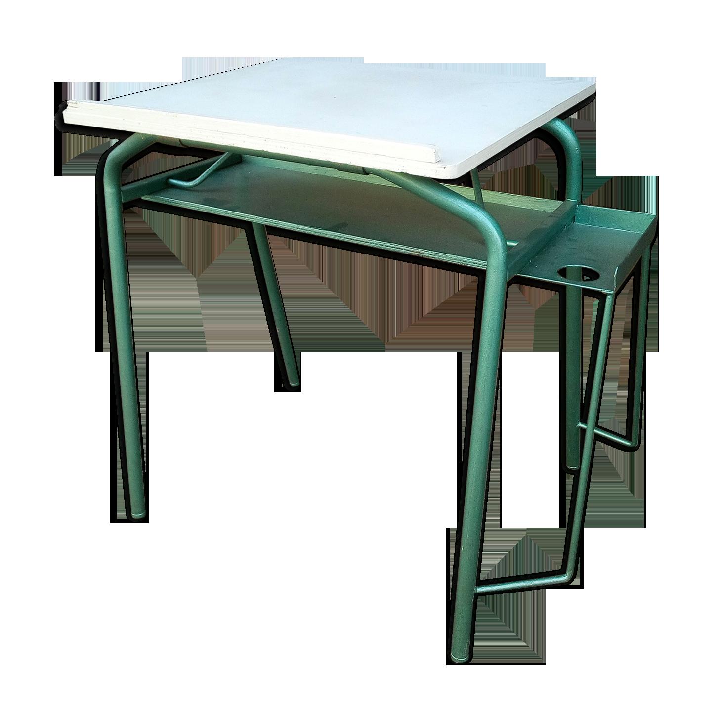 Bureau pour dessiner métal vert industriel c m uoa