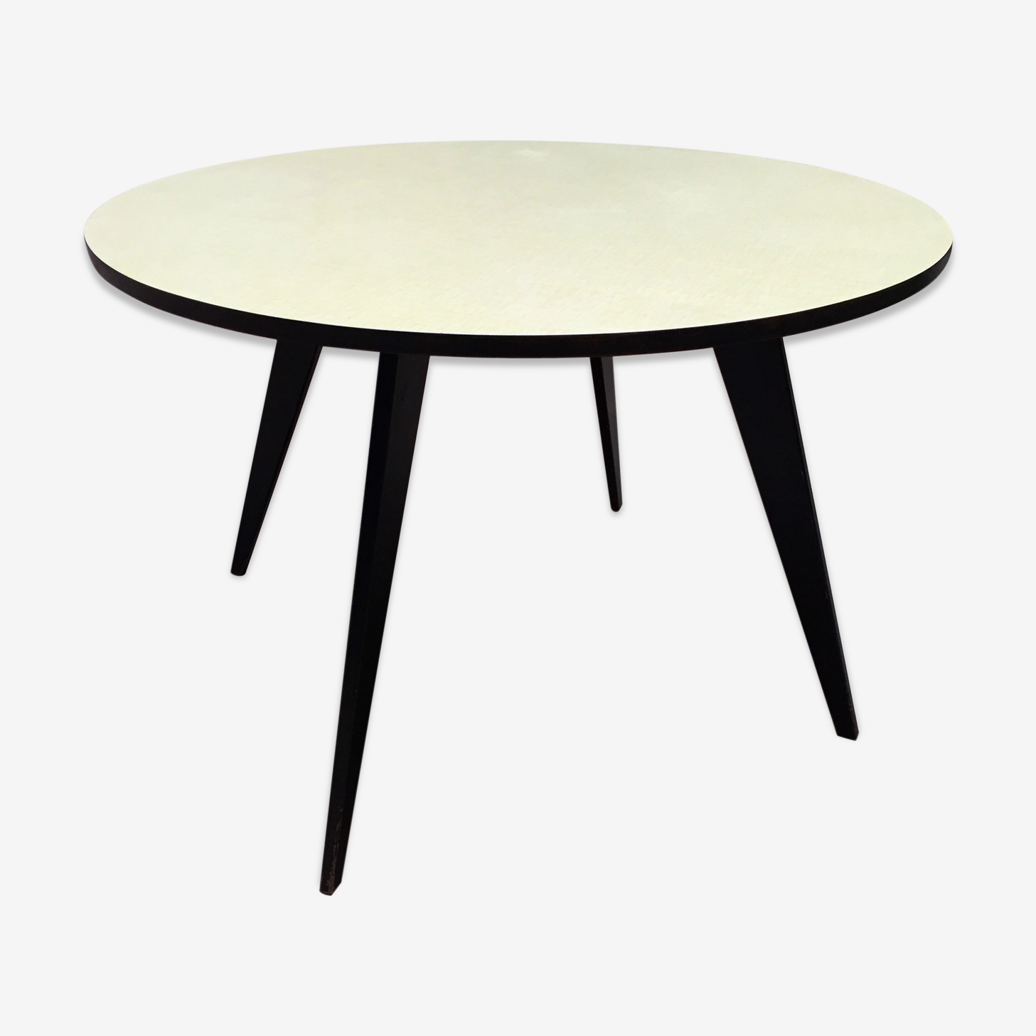 Round feet compass year 50 formica table
