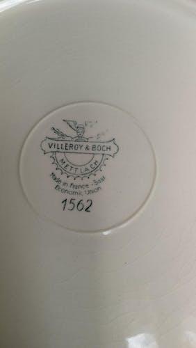 Plat de service Villeroy Boch Mettlach bouquet de fleurs Vintage Ancien