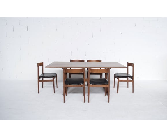 Table haute palissandre Gianfranco Frattini années 50' Bernini éditeur