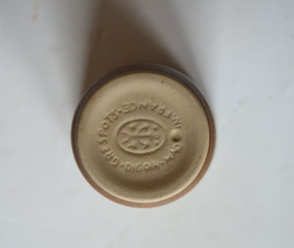 Set of 36 Digoin sandstone cups