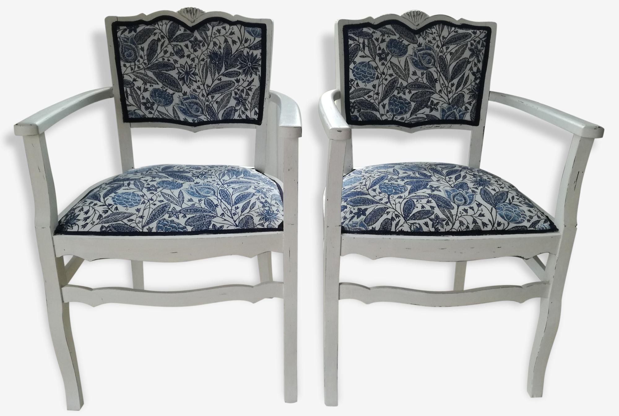 Deux fauteuils shabby chic