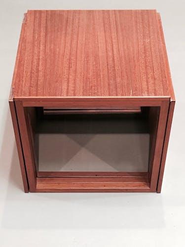 Tables basse gigogne teck et estampille design scandinave 1950