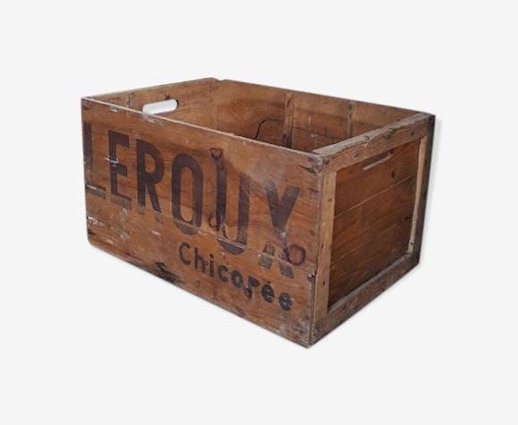 Leroux chicory wooden case